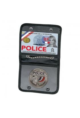 Porte-Carte tour de cou + empalcement Médaille Forces de l'Ordre GK
