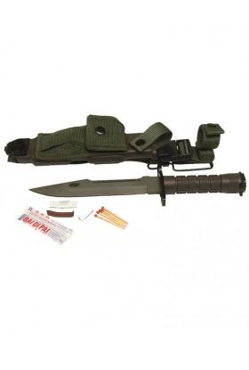 Baïonnette US M9 + Fourreau avec kit d'urgence