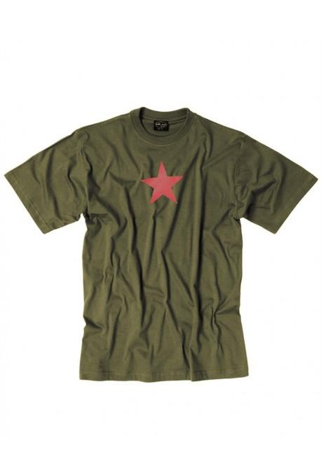 T shirt kaki étoile rouge