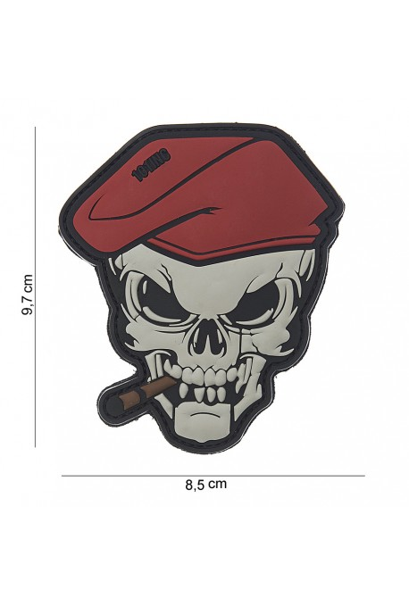 PATCH 3D PVC SKULL SIGAR
