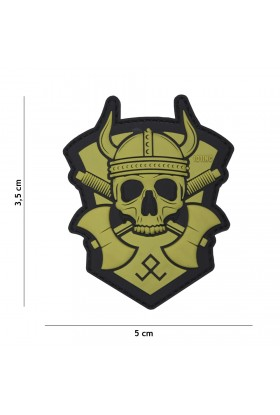 PATCH 3D PVC VICKING WITH HATCHET VERT