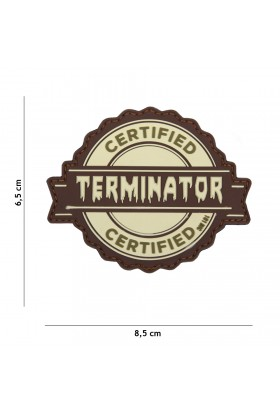 PATCH 3D PVC TERMINATOR SABLE