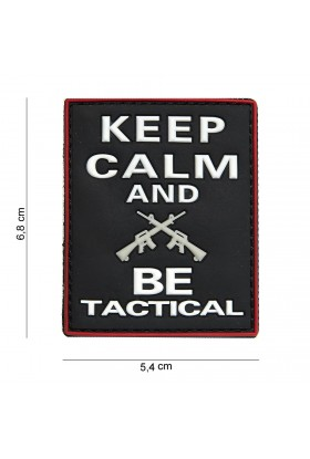 PATCH 3D PVC KEEP CALM AND BE TACTICAL NOIR