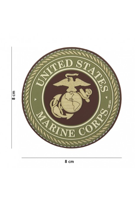 PATCH 3D PVC UNITED STATES MARINE CORPS MARRON