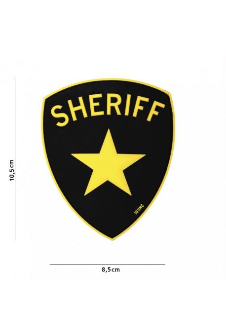 PATCH 3D SHERIFF JAUNE