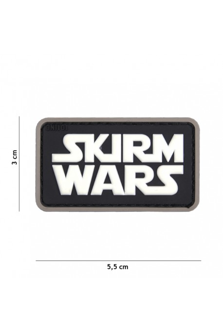 PATCH 3D SKIRM WARS NOIR