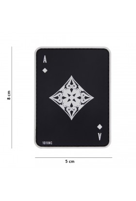 PATCH 3D ACE OF DIAMONDS NOIR