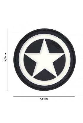 PATCH 3D USA STAR BLANC