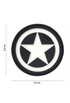 PATCH 3D USA STAR BLANC