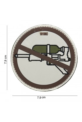"Patch 3D PVC "" Super soaker "" marron"