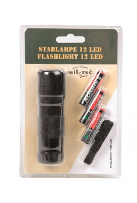 LAMPE TORCHE 12 LED (3AAA) NOIRE
