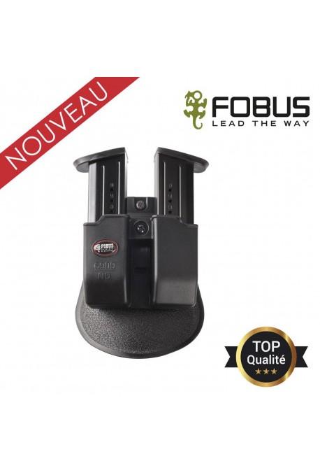 Double porte chargeurs fixation ceinture tactique et rotatif pour 9mm
