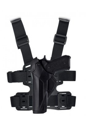 Holster Cama Duty DCA8 gaucher PAMAS / MAS-G1 + plaque de cuisse 8K18 noir