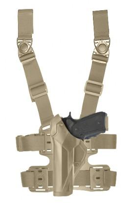 Holster gaucher Cama Duty DCA8 tan pour PAMAS / MAS-G1 + plaque de cuisse 8K18