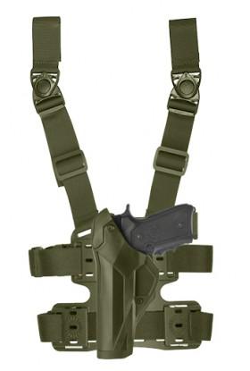Holster gaucher Cama Duty DCA8 vert OD pour PAMAS/MAS-G1 + plaque de cuisse 8K18