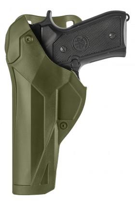 Holster Cama Duty DCA8 pour gaucher BERETTA 92/98 FS -PAMAS / MAS-G1 vert OD