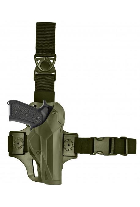 Holster Cama Duty DCA8 droitier PAMAS / MAS-G1 + plaque de cuisse 8K17 vert OD