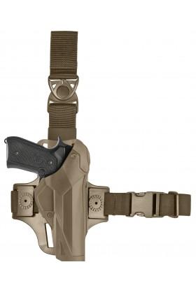 Holster Cama Duty DCA8 pour droitier. PAMAS / MAS-G1 + plaque de cuisse 8K17 tan