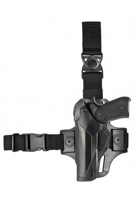 Holster Cama Duty DCA8 pour gaucher. PAMAS / MAS-G1 + plaque de cuisse 8K17 noir