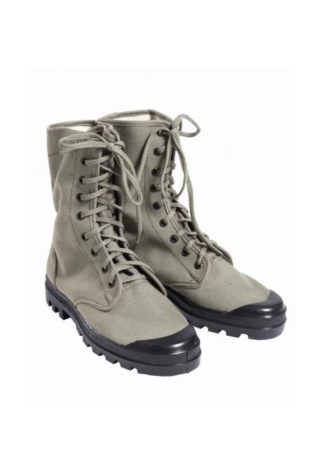 Chaussures montantes de brousse - toile 9 trous kaki
