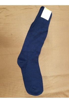 Chaussettes italiennes mi bas bleu marine
