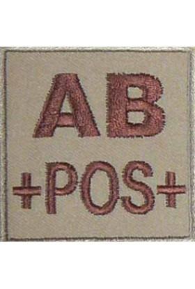 Ecusson groupe sanguin AB +