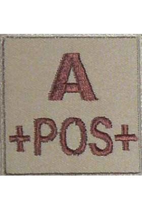 Groupe sanguin A positif brodé sur tissu