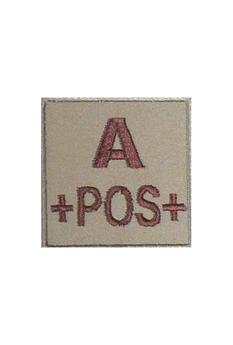 Ecusson groupe sanguin A +