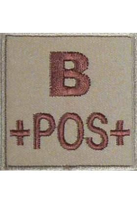 Ecusson groupe sanguin B +