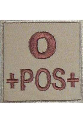 Ecusson groupe sanguin O +
