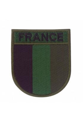 Ecusson de bras France basse vision brodé sur tissu