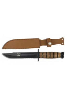 Couteau tactique USMC Avec étui cuir 18 cm