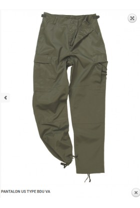 PANTALON US TYPE BDU uni