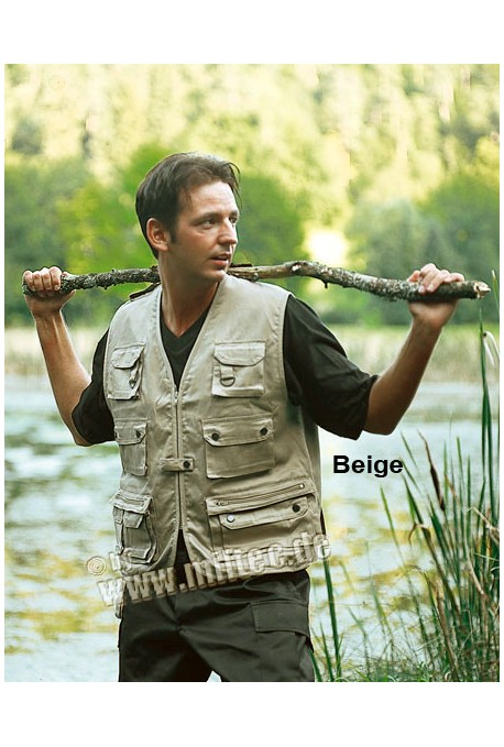 Gilet safari multipoches