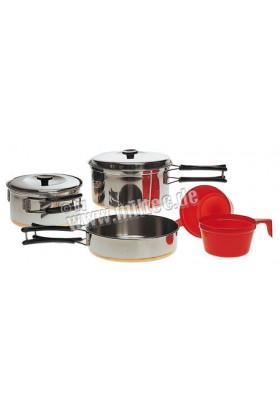 Set gamelles de cuisine acier 2 pers.