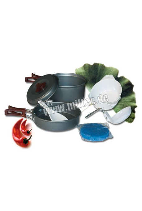 Set de cuisine 2 pers. aluminium anodisé