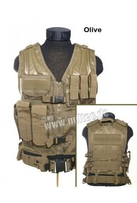 Gilet tactical 7 poches type USMC avec ceinturon