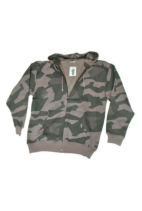blouson capuche camouflage