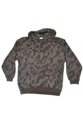 sweat à capuche camouflage