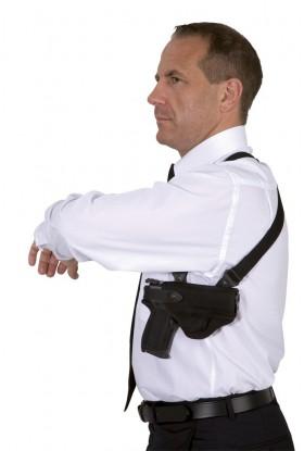 Holster droitier d'épaule Cordura® FO203 noir
