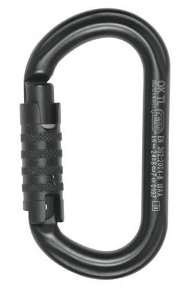 Mousqueton symétrique à verrouillage OK TRIACT-LOCK PETZL