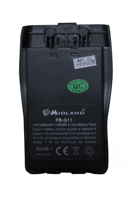Batterie 1600MAH pour radio G11 Midland