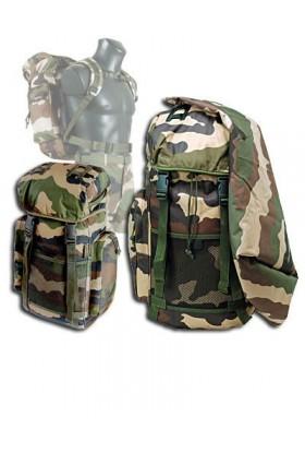 Sac à dos militaire 35 litres + sur sac