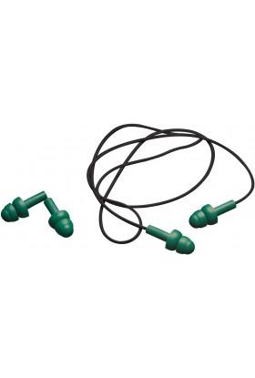Bouchons anti-bruit réutilisables cordés