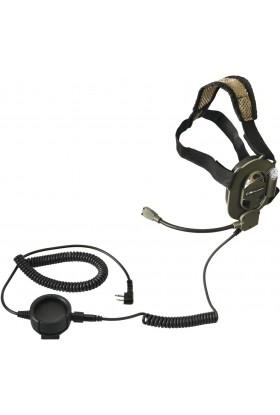 Casque-micro mono-oreille Navy Seals 2 jack (connectique Alan-Midland®)
