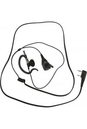 Micro-oreillette PTT prise coudée 2 jack (connectique Alan-Midland®)
