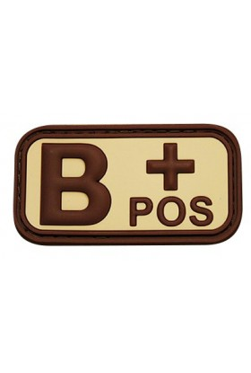 Patch 3D groupe sanguin B+ POS 50 x 26 mm