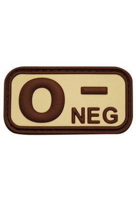 Patch 3D groupe sanguin O- NEG