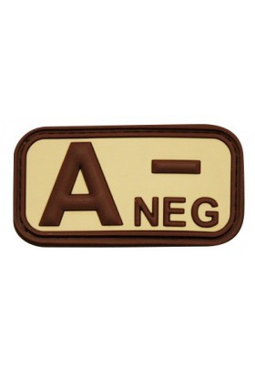Patch 3D groupe sanguin A- NEG 50 x 26 mm