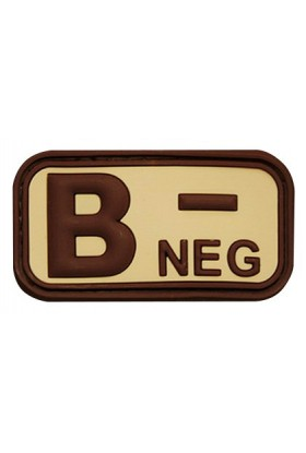 Patch 3D groupe sanguin B- NEG 50 x 26 mm